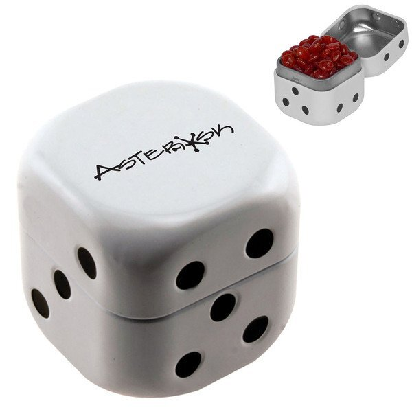 Red Hots in Dice Tin