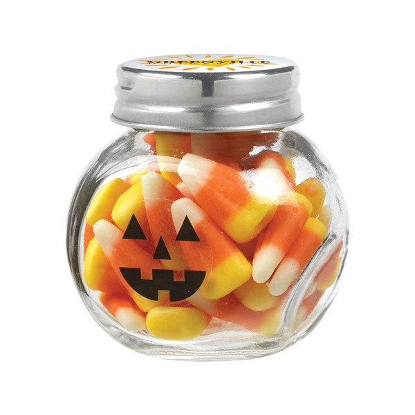 Cryptic Halloween Canister Jar with Candy Corn