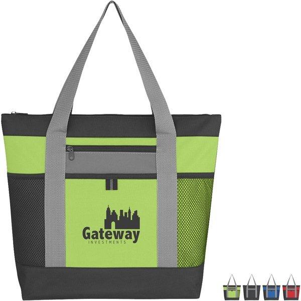 Tri-Color Polyester Tote Bag