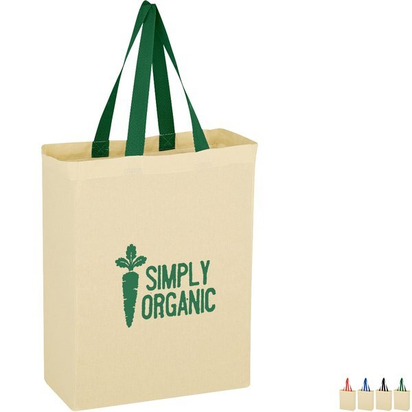 Natural Cotton Canvas Grocerty Tote Bag