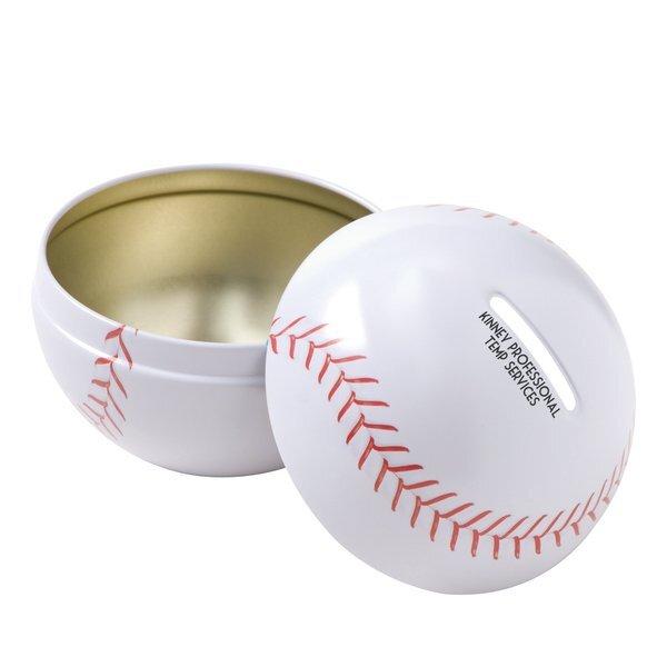 Baseball Tin Bank