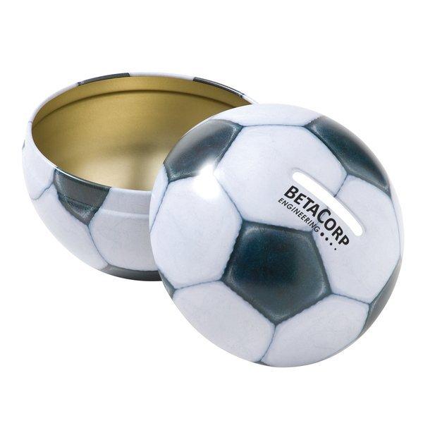 Soccer Ball Tin Bank