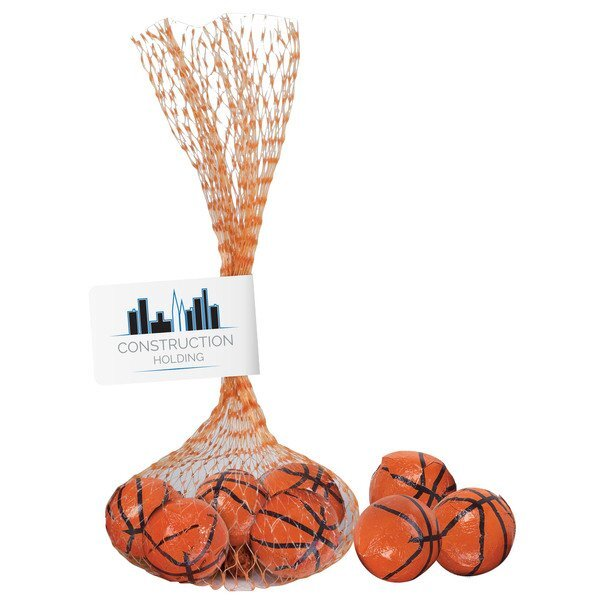 Nothin' But Net Mesh Bag w/ Chocolate Basketballs
