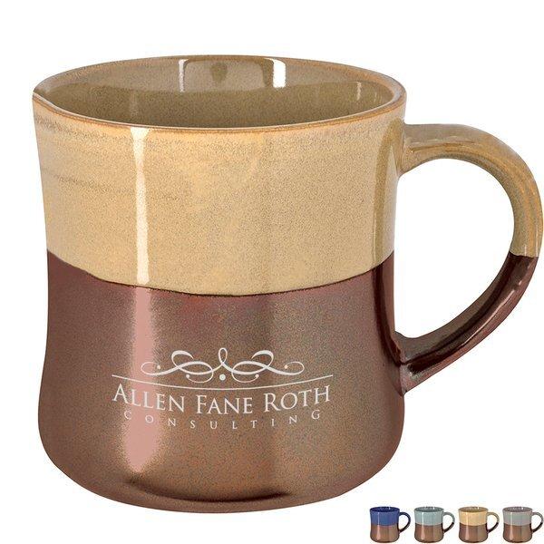 Mohican Iridescent Accent Ceramic Mug, 16oz.