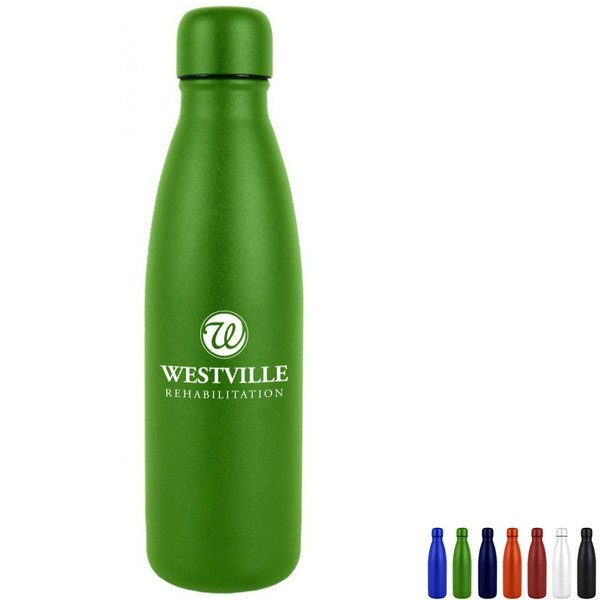 Hydro-Soul Powder Coated Copper Lined Stainless Steel Bottle, 16oz.