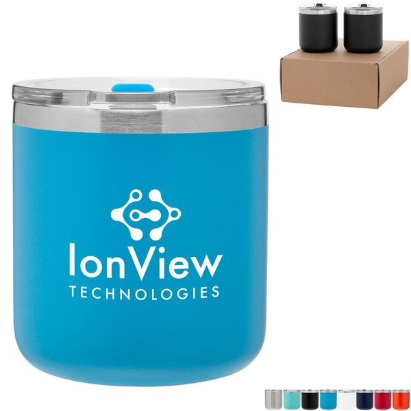 Spark Powder Coated Double Wall Tumblers Gift Set in Kraft Box