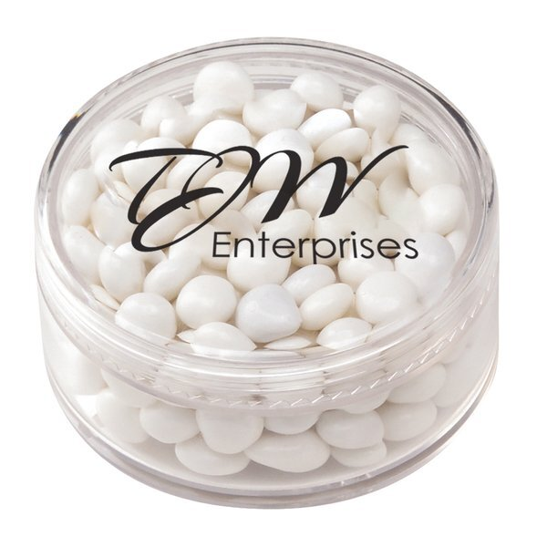 White Mints in a Clear Medium Container