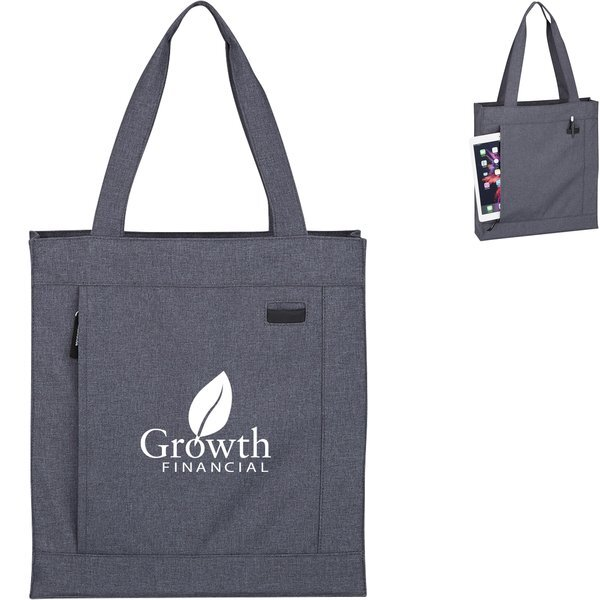 Hidden Zipper Polycanvas Tote Bag