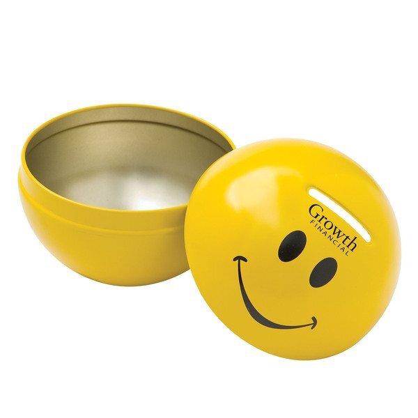 Smiley Face Tin Bank
