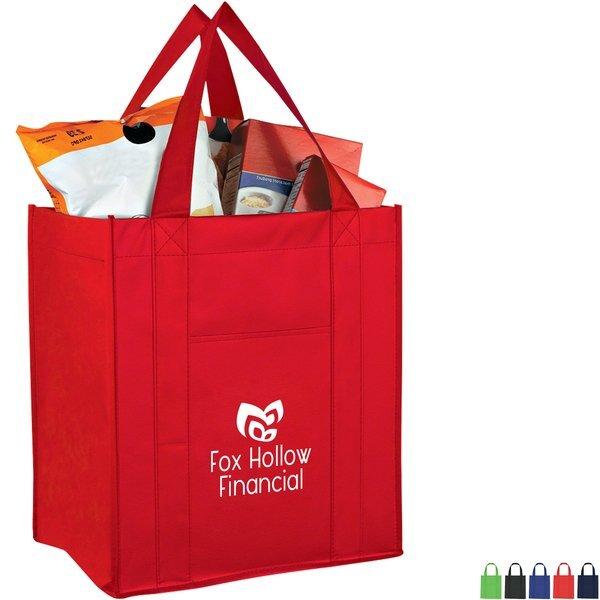 Pocket Matte Laminated Non-Woven Shopper Tote Bag