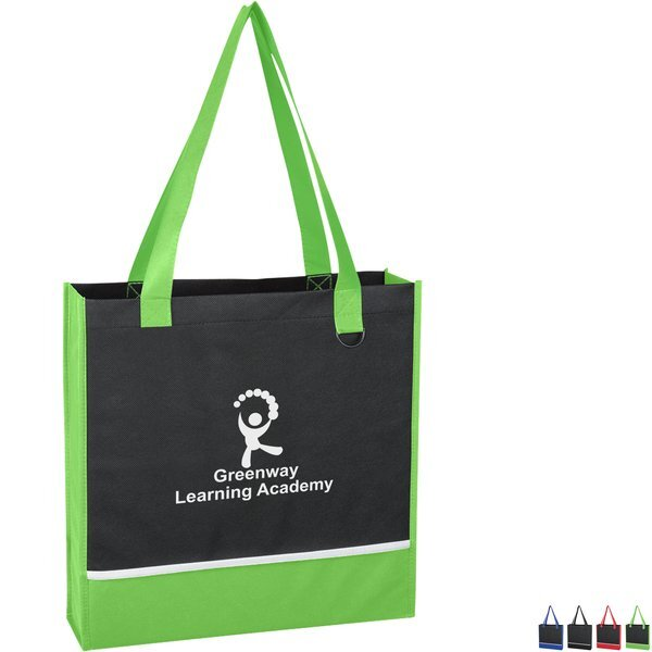Non-Woven Black Accent Tote Bag