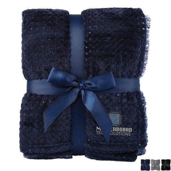"Interwoven Colored Flannel Blanket, 50"" x 60"""