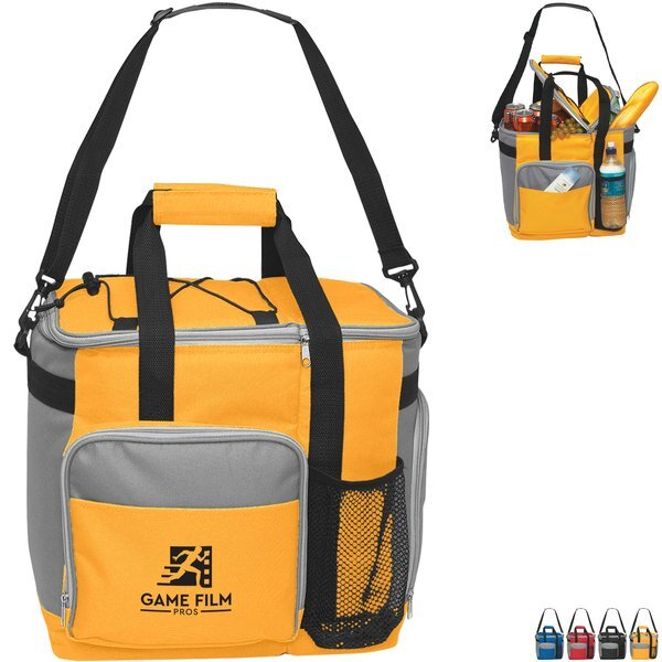 Large 24-Can Polyester Cooler Tote Bag