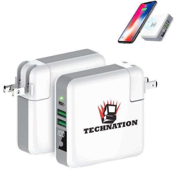 Traveler Qi Wireless Charger & Power Bank, 6,700mAh