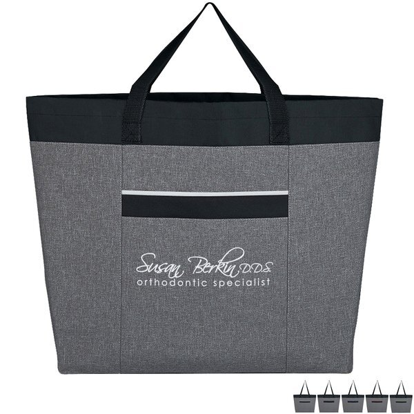 Brighton Heathered Polyester Tote Bag