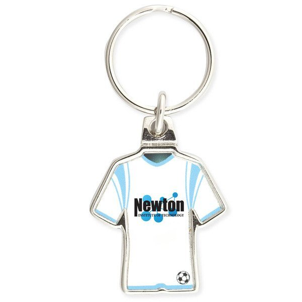 Soccer Jersey Metal Key Chain w/ Full Color Imprint