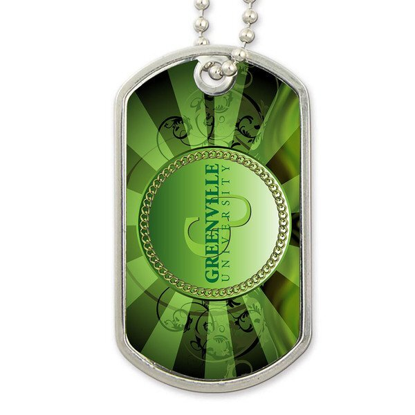 "Steel Dog Tag & 24"" Chain w/ Full Color Imprint"