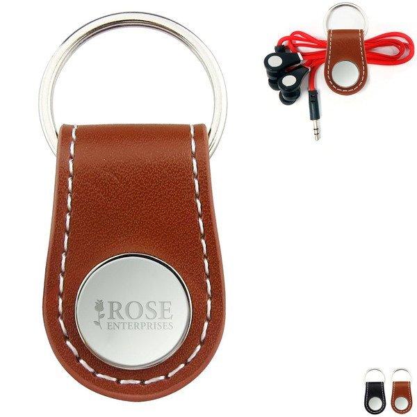 Key Snap Leatherette Cord Organizer Key Chain