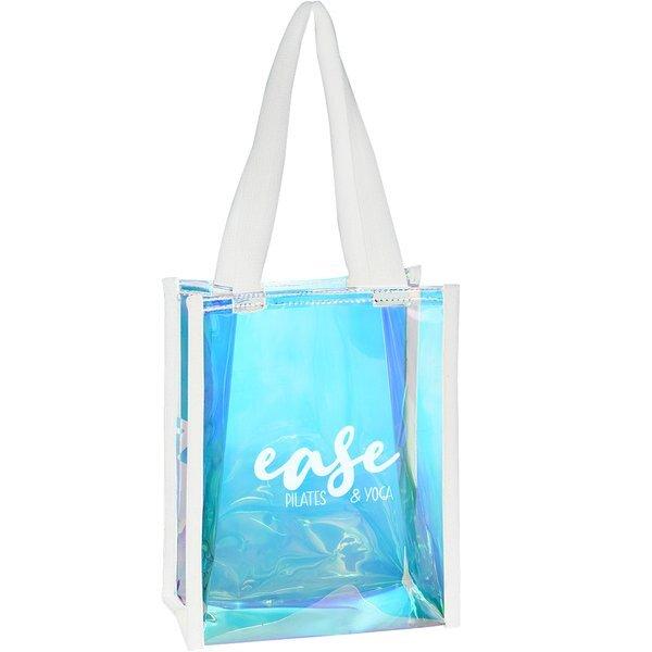 Mini Hologram Iridescent PVC Tote Bag