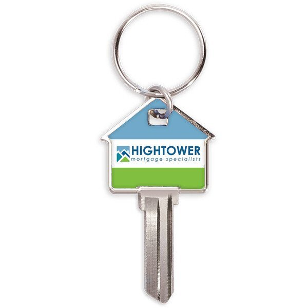House Shaped Key w/ Full Color Imprint