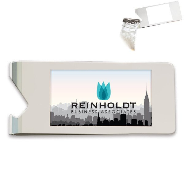 Money Clip Bottle Opener w/ Full Color Imprint
