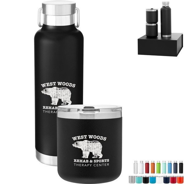 Spark Tumblers & h2go Journey Bottle Gift Set in Black Gift Box