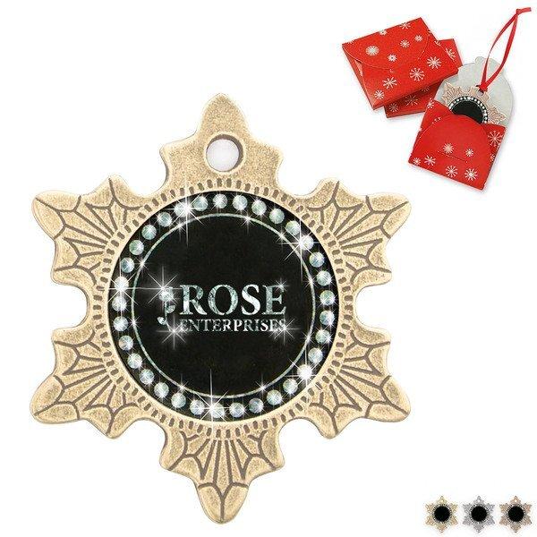 Bling Metal Snowflake Holiday Ornament