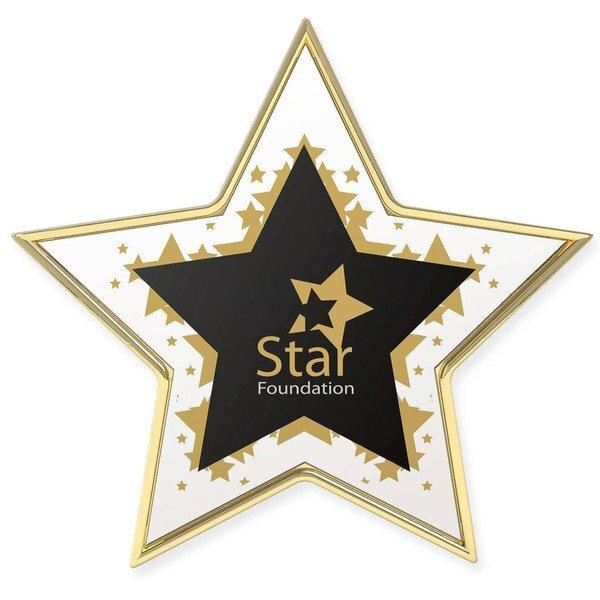 Star Lapel Pin w/ Full Color Imprint