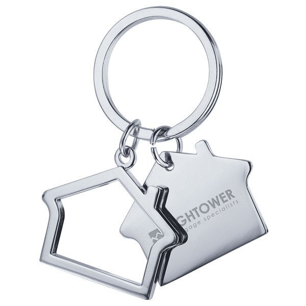 Double House Metal Key Holder