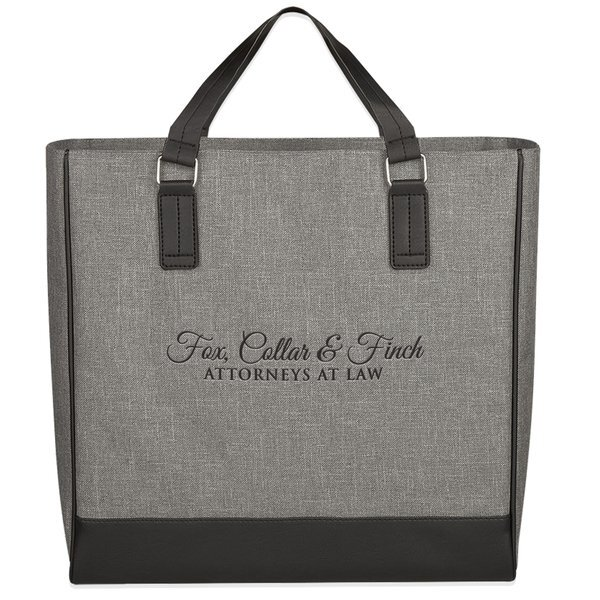 Classy Heathered Polyester Tote Bag