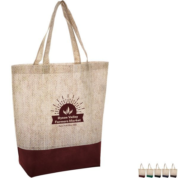 Fairview Non-Woven Two-Tone Tote Bag