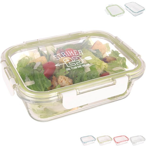 Fresh Prep Rectangular Glass Food Container