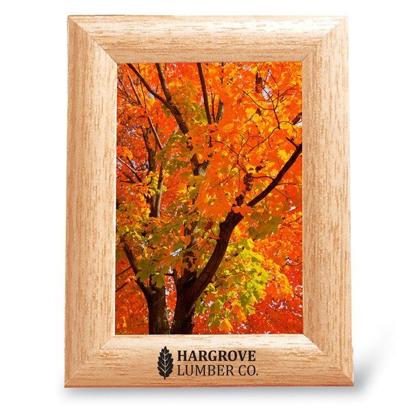 "Solid Oak Wood Photo Frame, 3-1/2"" x 5"""
