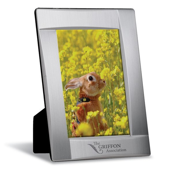"Structural Brushed Aluminum Photo Frame, 4"" x 6"""