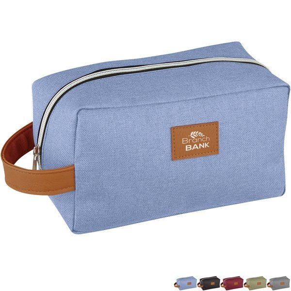 Heathered Polyester Toiletry Bag