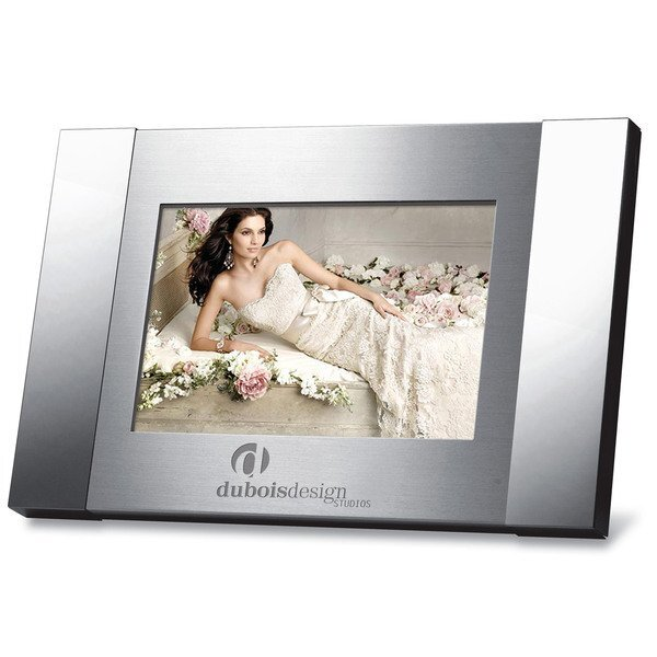"Duo Tone Metal Picture Frame, 4"" x 6"""