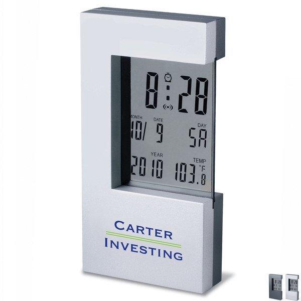 Heavy Zinc Alloy LCD Digital Clock