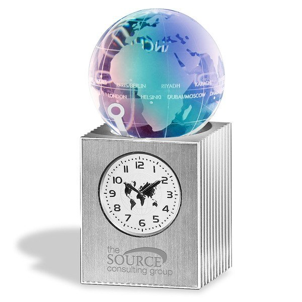 Crystal Globe World Time Clock with Mood Light