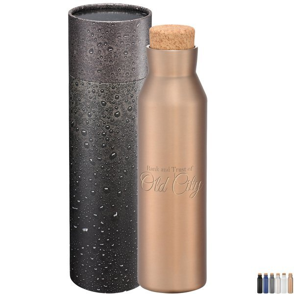 Norse Copper Vac Bottle w/Cylindrical Box, 20 oz.