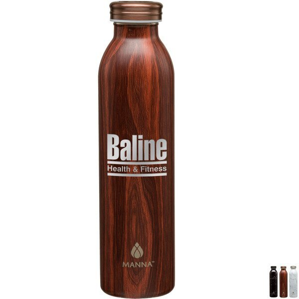 Manna™ Retro Stainless Steel Water Bottle, 20oz.