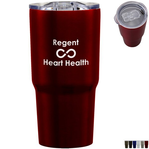 Reva Double Wall Stainless Steel Tumbler, 20oz.