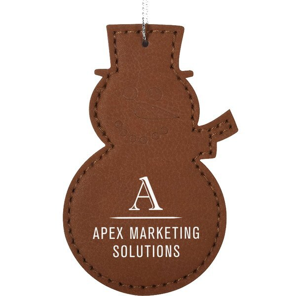 Leatherette Snowman Ornament