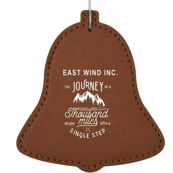 Leatherette Bell Ornament