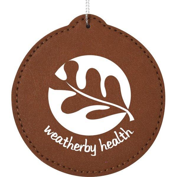 Leatherette Circle Ornament