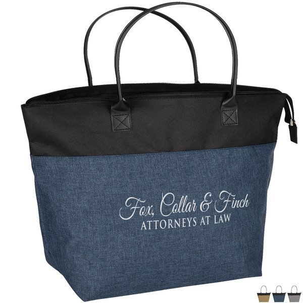 Abigail Two-Tone Polyester Tote Bag
