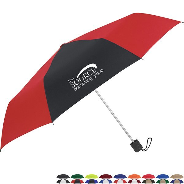 "Telescopic Folding Manual Open Umbrella, 42"" Arc"
