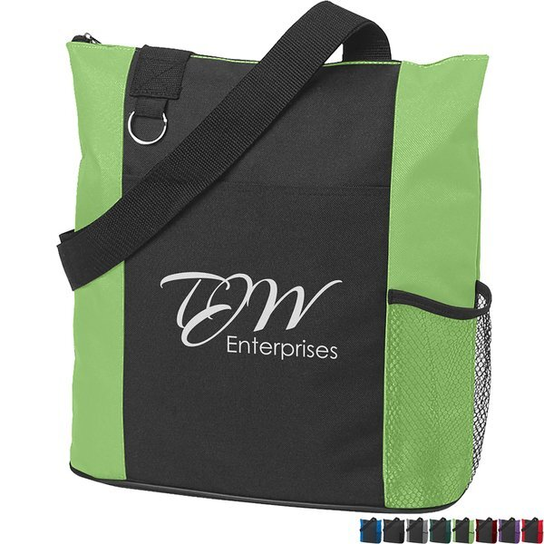 Fun Zip Top Closure Polyester Tote Bag