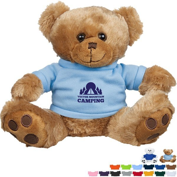 Plush Big Paw Bear w/ Shirt, 8-1/2""