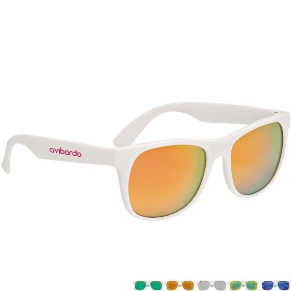 Rubberized Mirrored Lens Sunglasses
