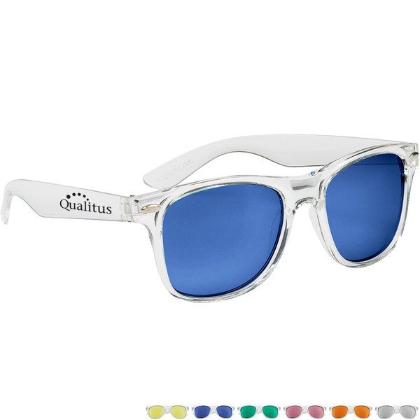 Crystalline Mirrored Malibu Sunglasses